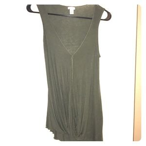 BP olive green open front tank